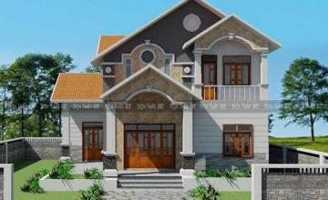 Thiết kế biệt thự 3 tầng mái thái 2 mặt tiền