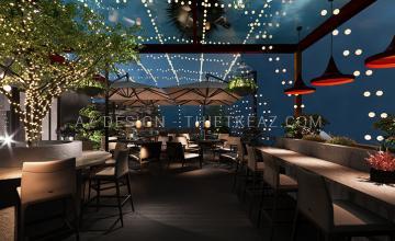 Nhà hàng Cafe ngoài trời - Nội Bài - Hà Nội