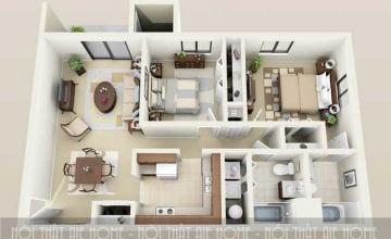 Giải pháp thiết kế nội thất chung cư nhỏ 50m2 tiện nghi cho các gia đình trẻ