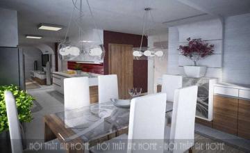 Thiết kế nội thất căn hộ chung cư 50m2 2 phòng ngủ