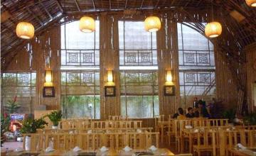 Ý tưởng cho thiết kế nhà hàng bằng tre cực độc đáo