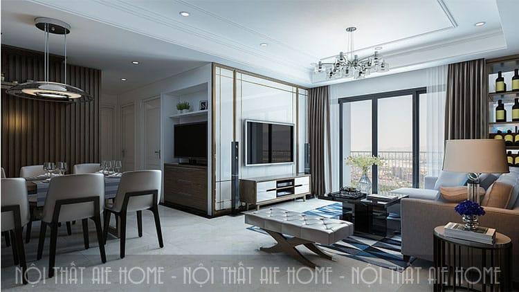 Đồ nội thất được lựa chọn một cách tinh tinh tế trong nhà chung cư 100 m2