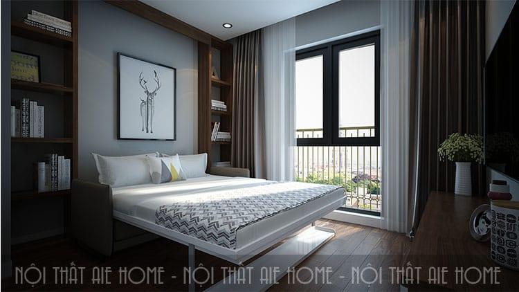 Phòng ngủ lớn cho căn hộ chung cư 100m2 1