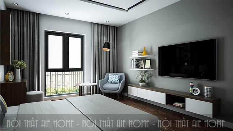 Phòng ngủ lớn cho căn hộ chung cư 100m2 2