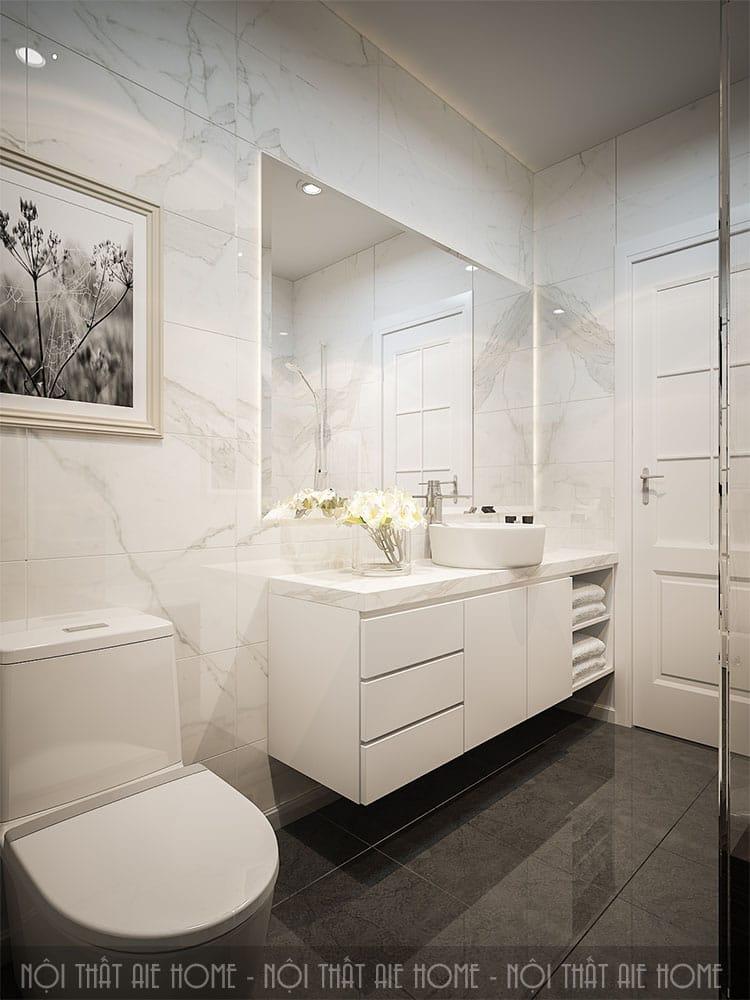 Khu vực vệ sinh trong thiết kế nhà 100m2 3 phòng ngủ 3