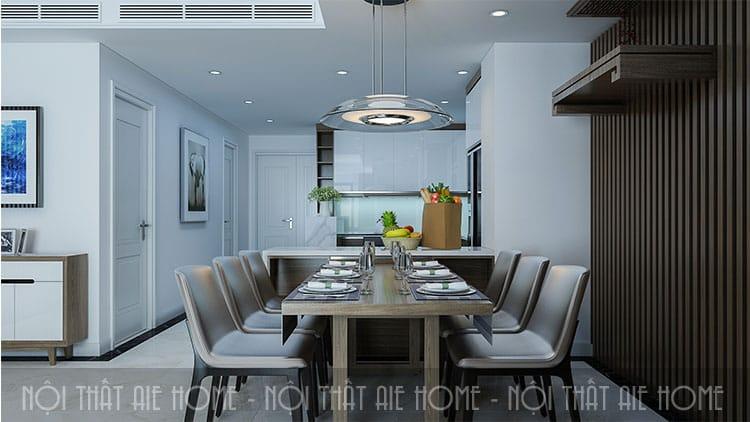 Phòng bếp căn chung cư 100m2 3 phòng ngủ đẹp sang trọng
