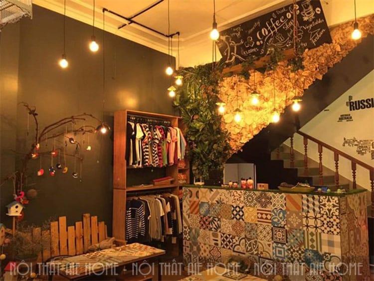 Đối mẫu thiết kế nhà ở kết hợp quán cafe mang phong cách hiện đại, tối giản thì sắc màu trắng hay gam màu ghi xám trang nhã có thể là một gợi ý hay ho, mang lại sự mởi mẻ, thân thiện.