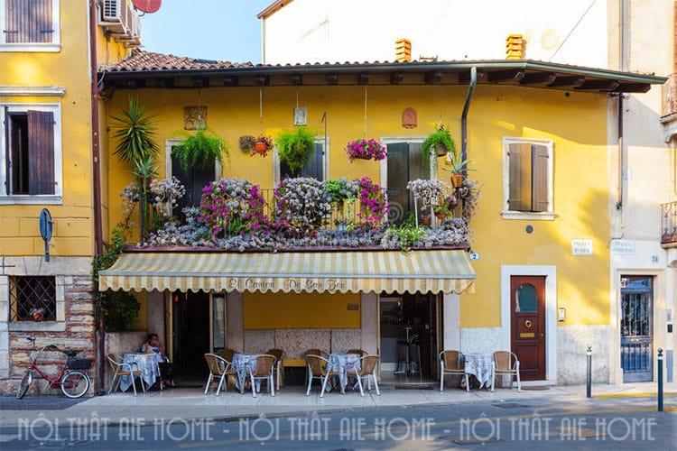 Mẫu thiết kế nhà ở kết hợp quán cafe trên phố