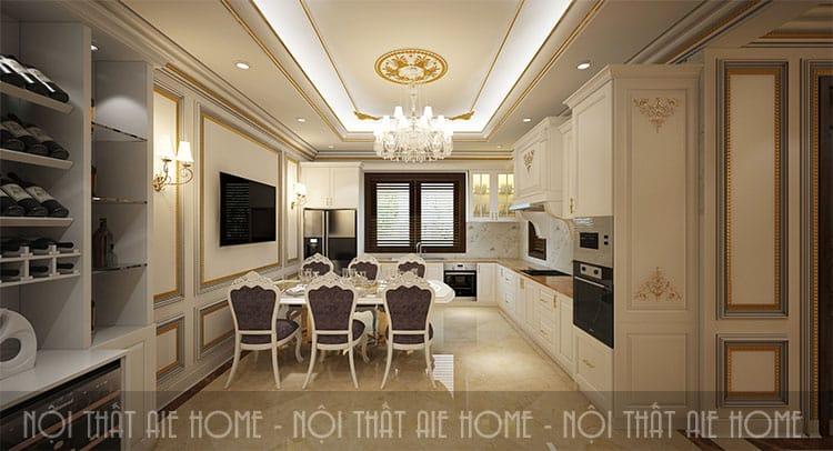 Thiết kế phòng ăn theo phong cách tân cổ điển 5