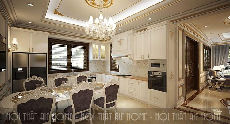 Thiết kế phòng ăn theo phong cách tân cổ điển 2