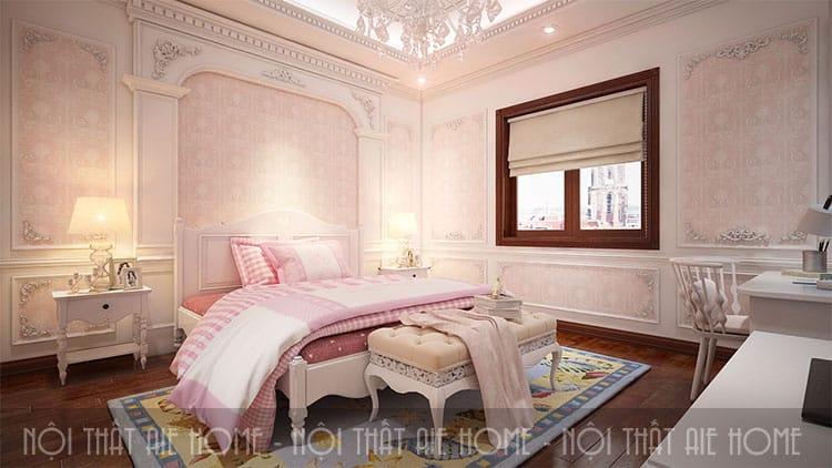 Phòng ngủ trong thiết kế biệt thự phong cách tân cổ điển 9