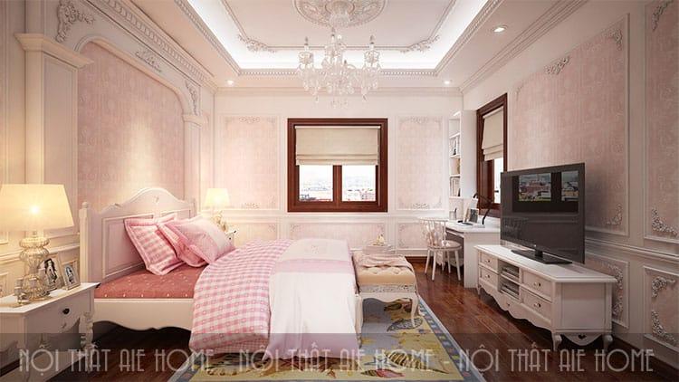 Phòng ngủ trong thiết kế biệt thự phong cách tân cổ điển 7