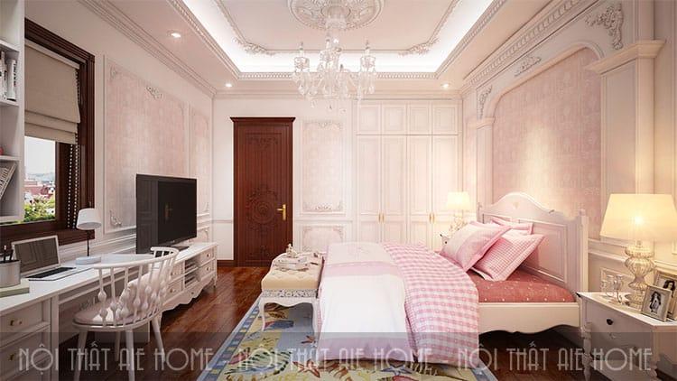 Phòng ngủ trong thiết kế biệt thự phong cách tân cổ điển 6