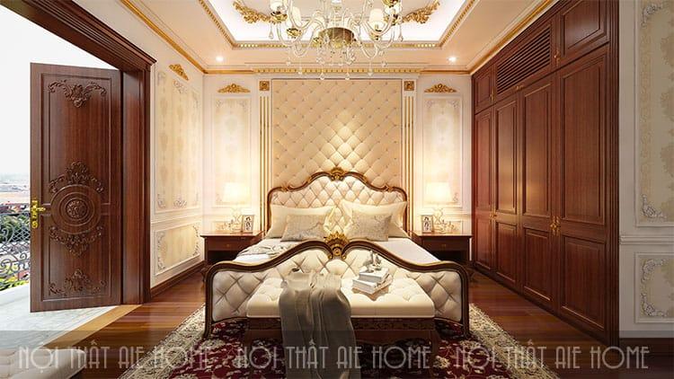 Phòng ngủ trong thiết kế biệt thự phong cách tân cổ điển 1