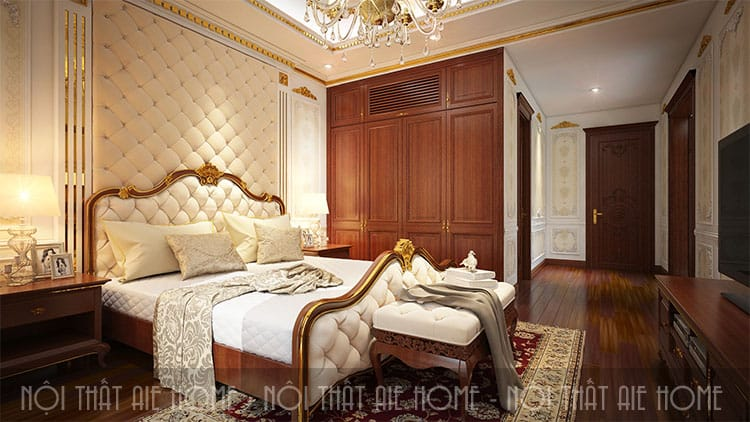 Phòng ngủ trong thiết kế biệt thự phong cách tân cổ điển 5