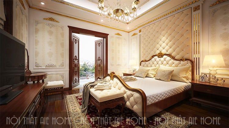 Phòng ngủ trong thiết kế biệt thự phong cách tân cổ điển 3