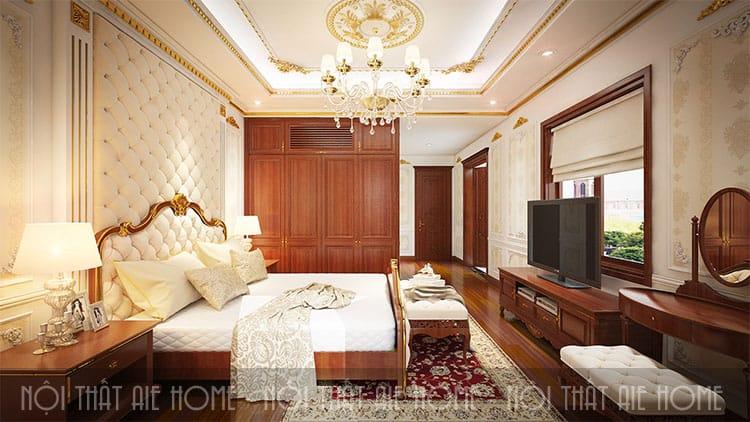 Phòng ngủ trong thiết kế biệt thự phong cách tân cổ điển 4