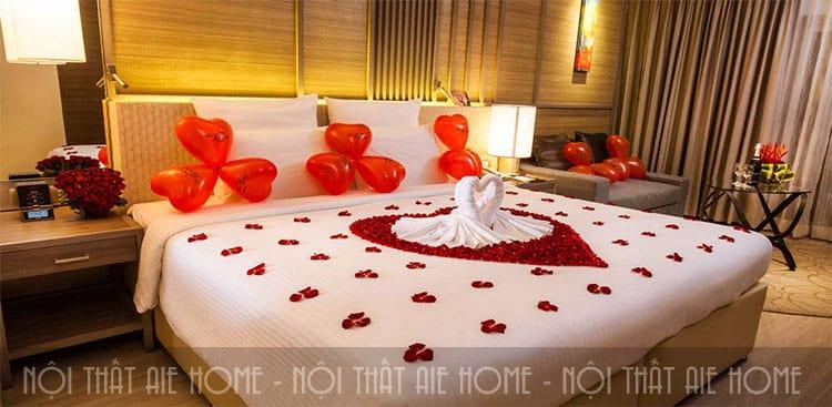 Bố cục không gian trong thiết kế phòng cưới