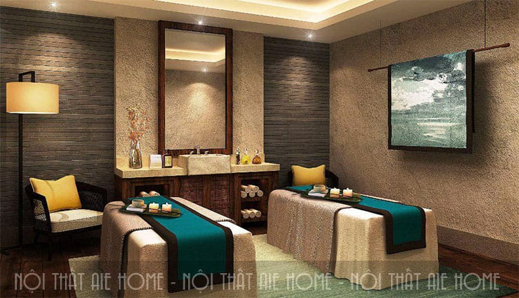Mẫu thiết kế Day Spa, spa masage với cách phối màu ấn tượng