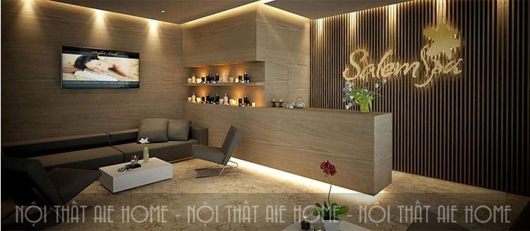 Phòng khách spa là một yếu tố quan trọng thu hút khách hàng