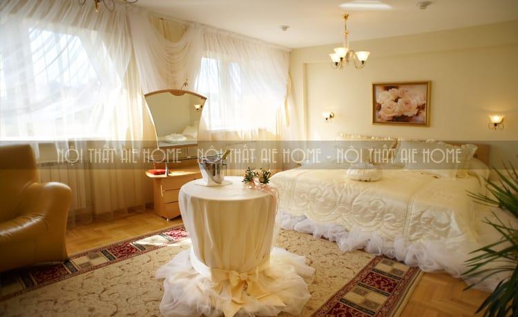 Thiết kế nội thất phòng cưới phong cách nhẹ nhàng, lãng mạn và sang trọng