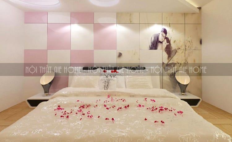 Thiết kế nội thất phòng cưới phong cách nhẹ nhàng, sang trọng