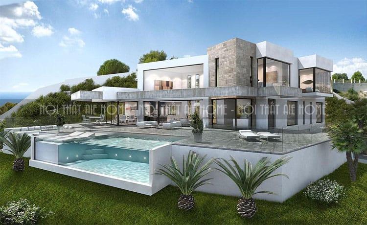 Thiết kế biệt thự hiện đại với nhiều không gian tiện ích