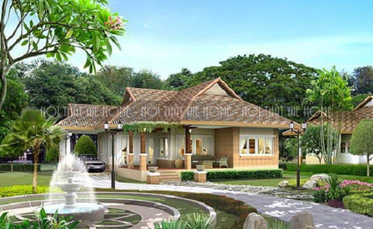 mẫu thiết kế biệt thự nhà vườn 1