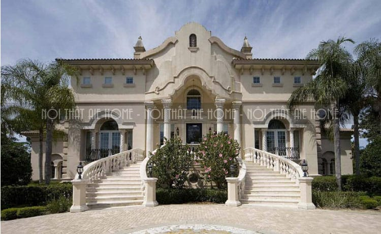 Biệt thự cổ điển một tầng cổ kính