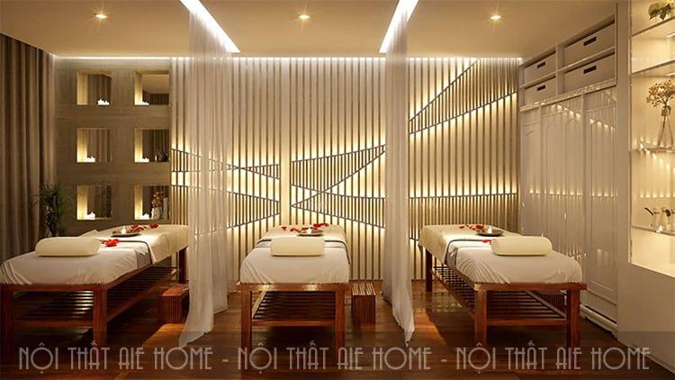 Mỗi phòng trong thiết kế spa chuyên ntghiệp lại có một chức năng riêng tùy thuộc vào từng liệu trình