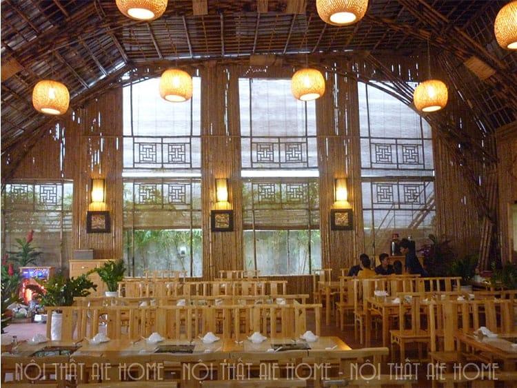 Thiết kế nhà hàng bằng tre