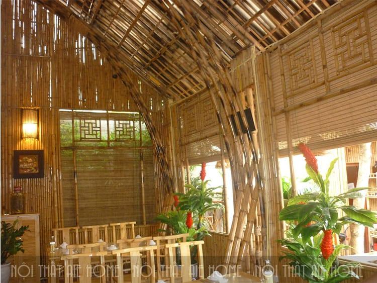 Không gian nhà hàng thiết kế bằng tre