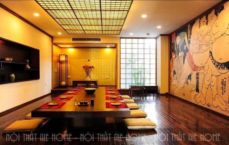 Mẫu thiết kế nhà hàng ăn uống theo phong cách Nhật Bản