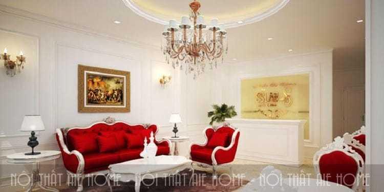 Mẫu thiết kế nội thất spa theo phong cách cổ điển