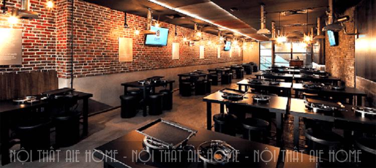 Không gian nội thất nhà hàng hàn Quốc mang vẻ đẹp hiện đại