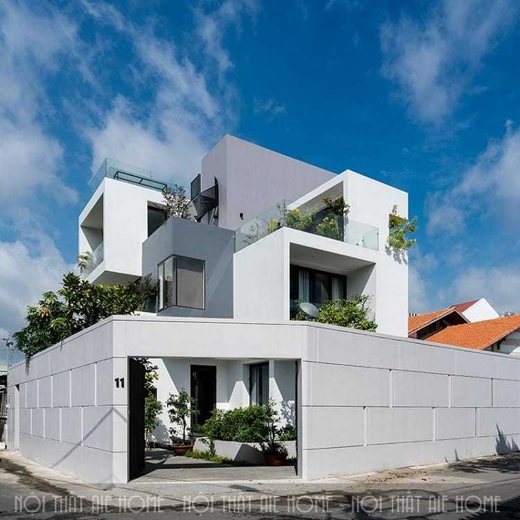 Kiến trúc xanh xen lẫn trong không gian thiết kế biệt thự