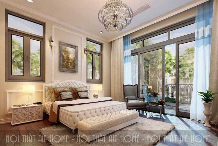 Phòng ngủ được thiết kế theo không gian kiến trúc mở