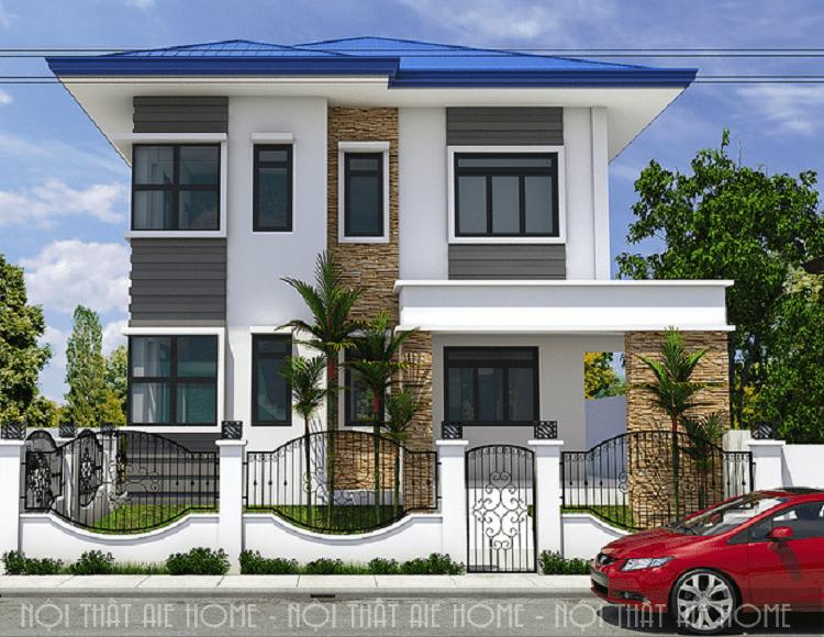 Biệt thự hiện đại gắn liền với các thiết kế hình khối