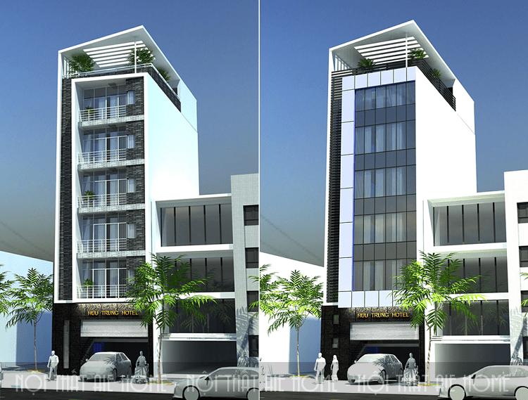 Thiết kế khách sạn 5 tầng tiện nghi với theo xu hướng hiện đại