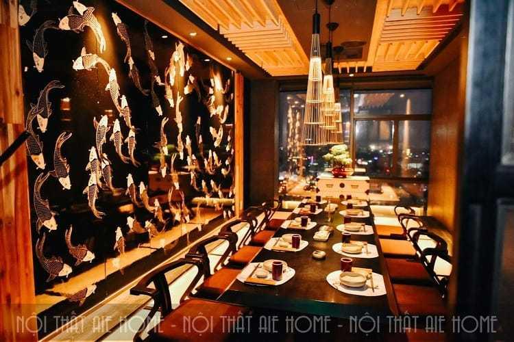 Cá Koi một biểu tượng văn hóa trong thiết kế nhà hàng Nhật