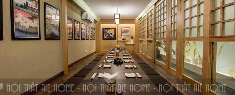 Thiết kế phòng riêng với chỗ ngồi bệt luôn thu hút khách hàng