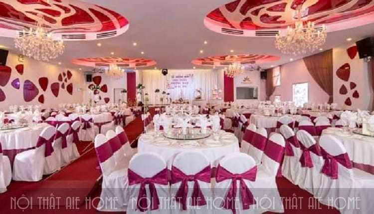 Không gian tiệc cưới sang trọng và ấm cúng tại Callary
