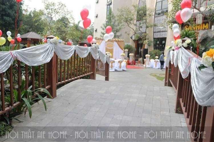Khuôn viên tổ chức tiệc cưới nhà hàng ngoài trời Lã Vọng
