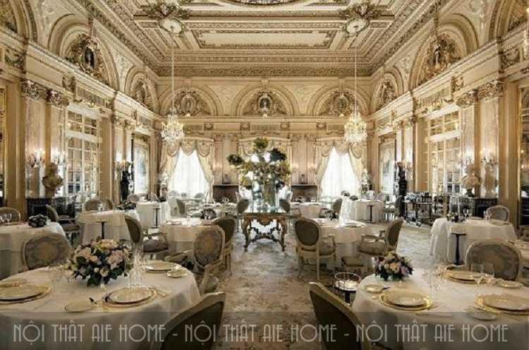 Nội thất nhà hàng phong cách Châu Âu vô cùng sang chảnh