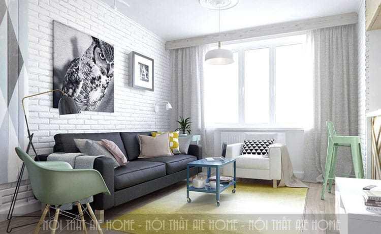 Tận dụng ánh sáng mặt trời cho phòng khách trông rộng hơn