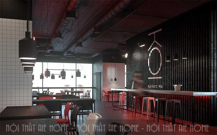 Thiết kế nhà hàng ăn uống kết hợp với kinh doanh cafe