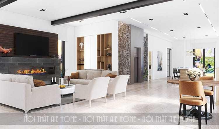 Thiết kế nội thất căn hộ chung cư 100m2 tối thiểu 3 phòng ngủ- Thiết kế AIE Plus