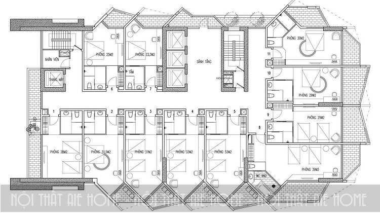 Bí quyết sở hữu bản vẽ thiết kế khách sạn mini chuẩn đến từng chi tiết