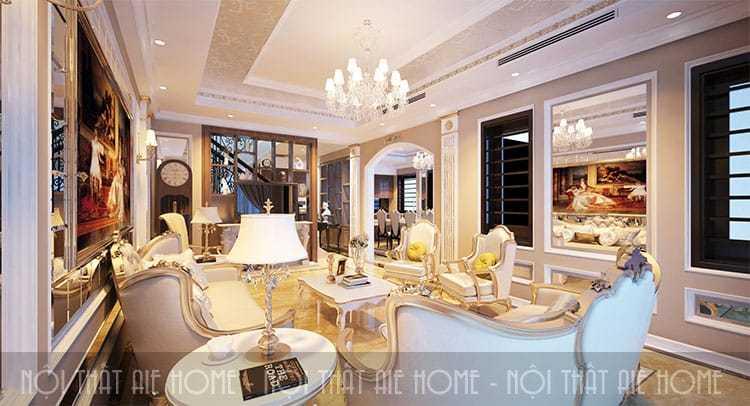 Thiết kế nội thất biệt thự tân cổ điển - Anh Hách, TP. Giao Lưu
