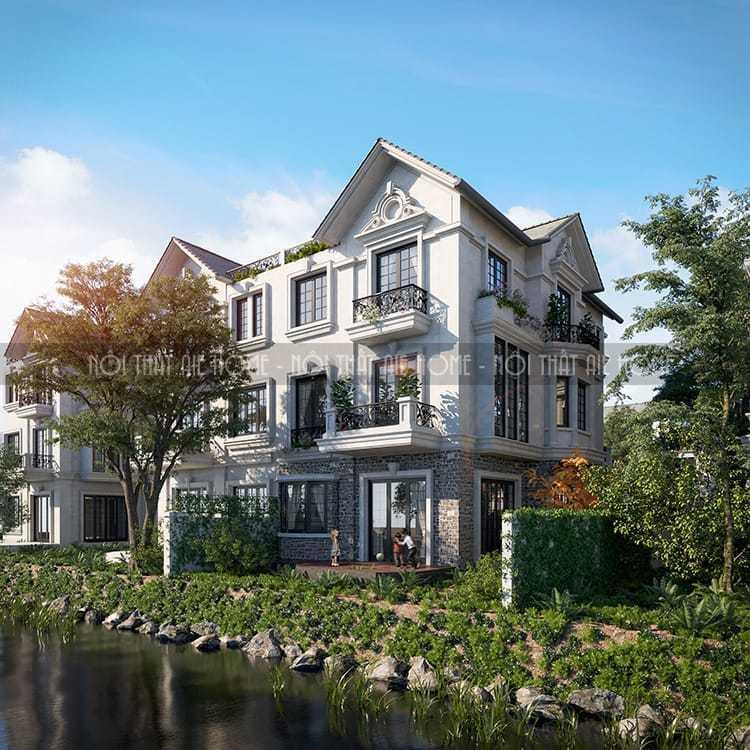 Thiết kế kiến trúc nội thất biệt thự ven sông - Vinhome
